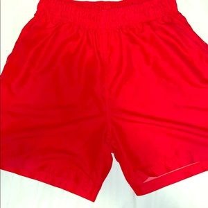 Men's red bathing suit without netting